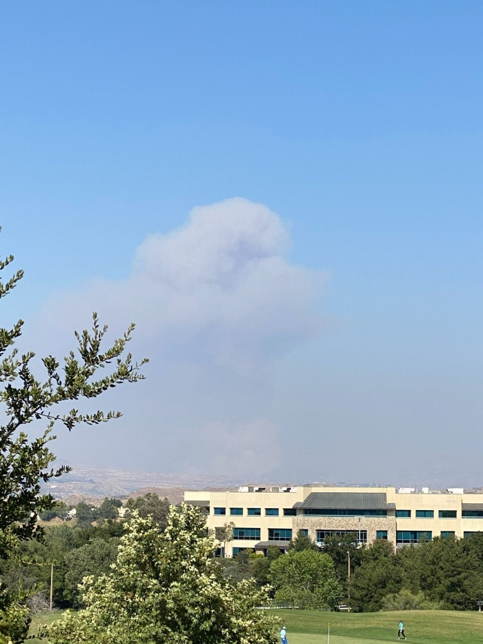 Photo of Smoke from Soledad Fire - July 5, 2020