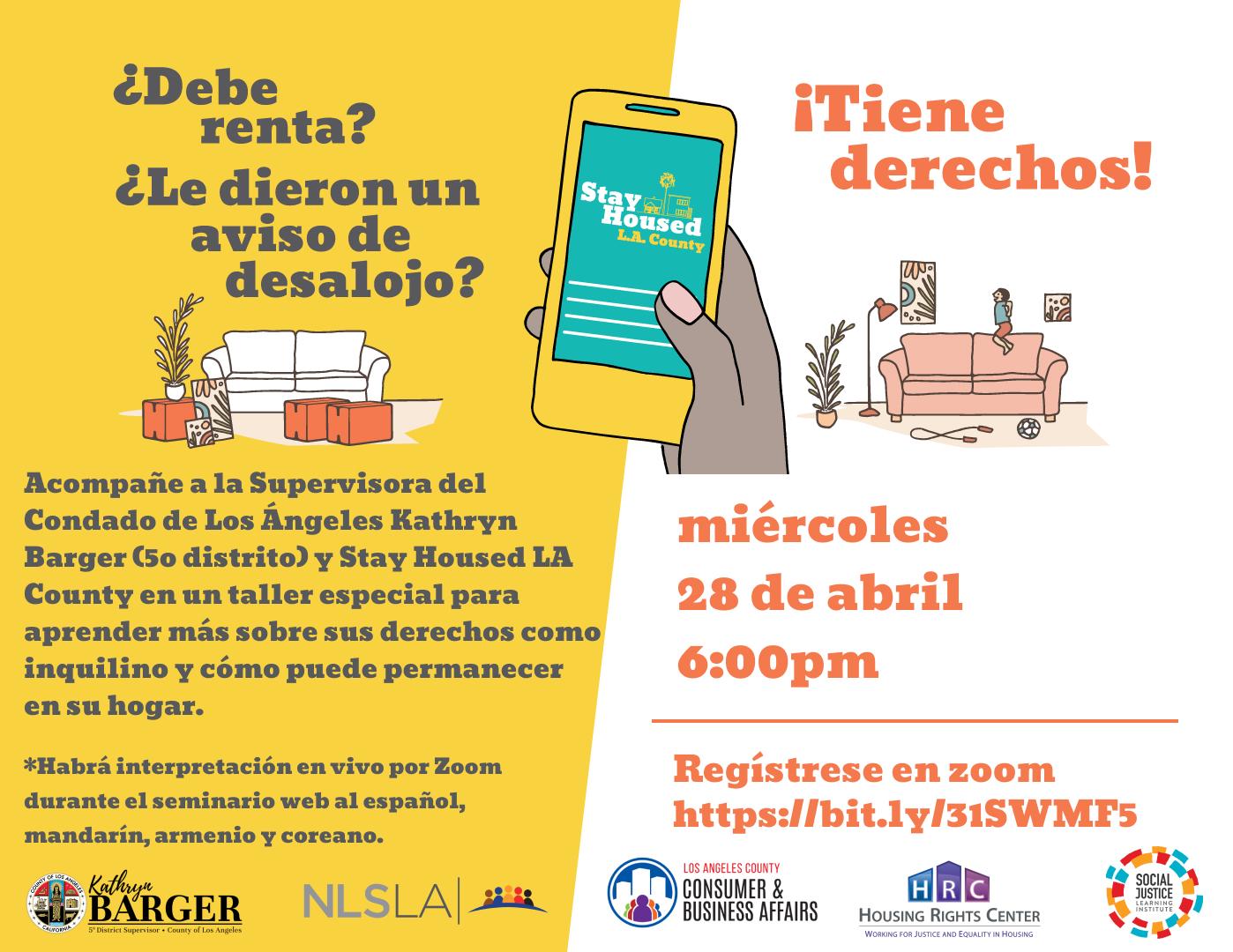 Spanish webinar flyer